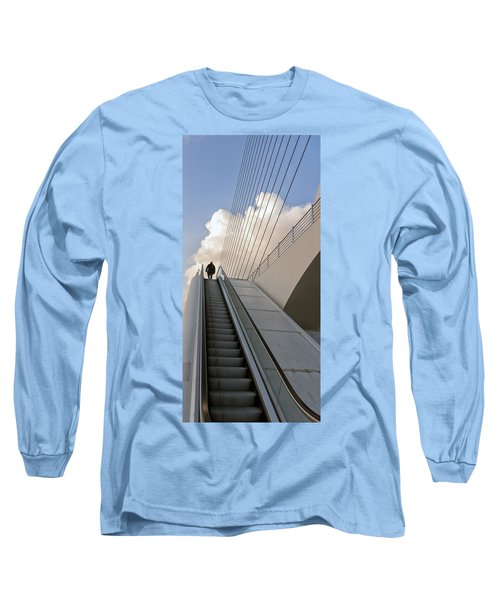 Elevator Long Sleeve T-Shirt by Mike Santis