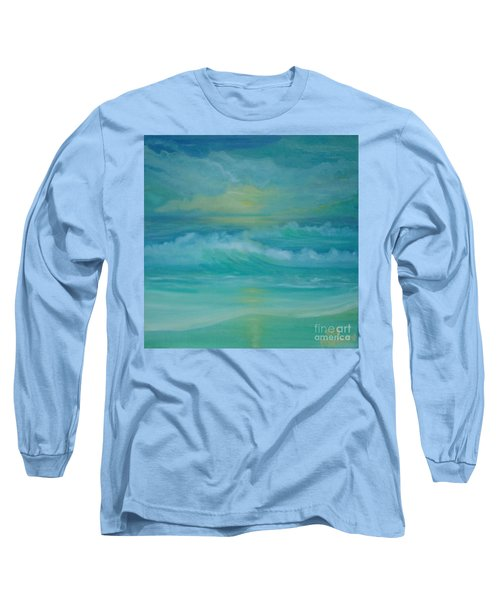 Emerald Waves Long Sleeve T-Shirt by Holly Martinson