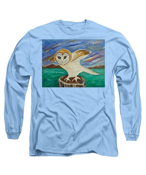Equinox Owl Long Sleeve T-Shirt by Victoria Lakes