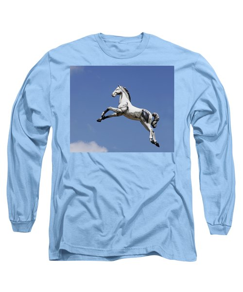 Escaped Carousel Horse Long Sleeve T-Shirt