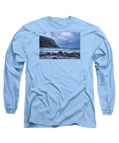 Evening At The Seaside In Rain Long Sleeve T-Shirt