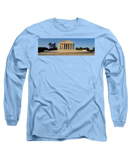 Facade Of A Memorial, Jefferson Long Sleeve T-Shirt by Panoramic Images