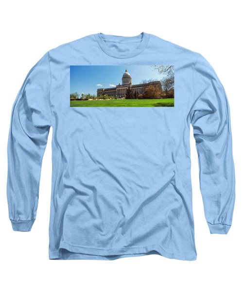Facade Of State Capitol Building Long Sleeve T-Shirt by Panoramic Images