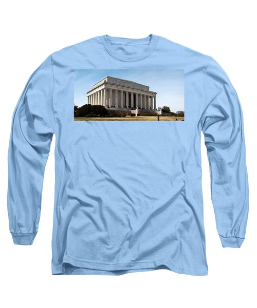 Facade Of The Lincoln Memorial, The Long Sleeve T-Shirt by Panoramic Images