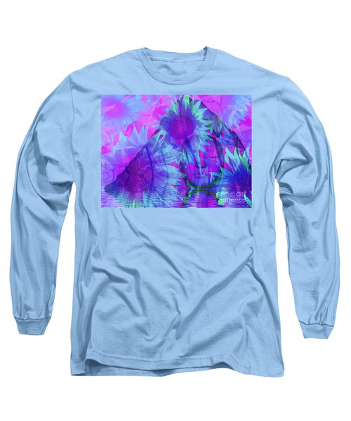 Face In The Rock Dreams Of Sunflowers Long Sleeve T-Shirt