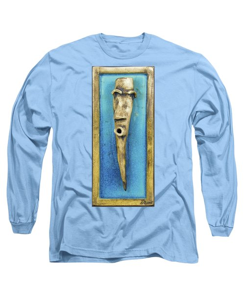 Faces #7 Long Sleeve T-Shirt by Mario Perron