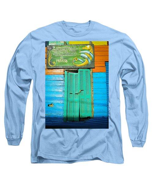 Long Sleeve T-Shirt featuring the photograph Fachada De Conventillo by Silvia Bruno