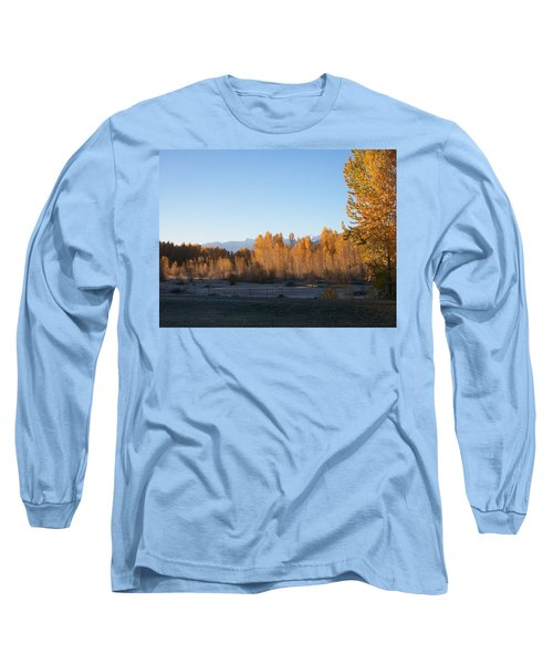 Long Sleeve T-Shirt featuring the photograph Fall On The River by Jewel Hengen