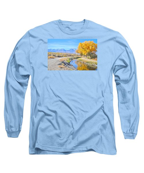 Long Sleeve T-Shirt featuring the photograph Fall Reflections by Marilyn Diaz