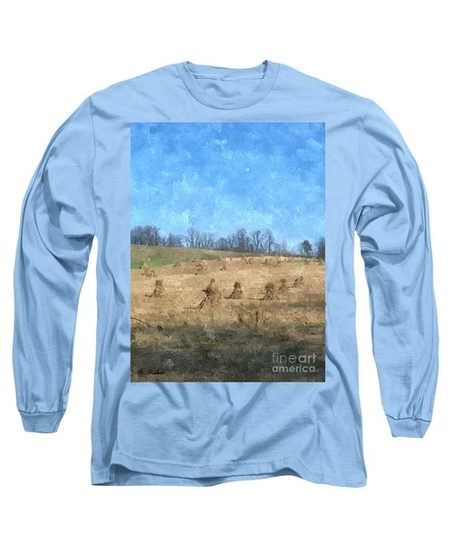 Long Sleeve T-Shirt featuring the painting Farm Days 2 by Sara  Raber