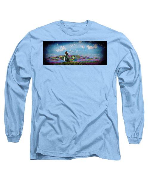 Field Of Flowers... Long Sleeve T-Shirt