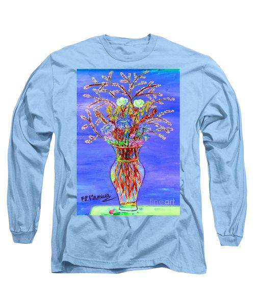 Long Sleeve T-Shirt featuring the painting Fiori by Loredana Messina