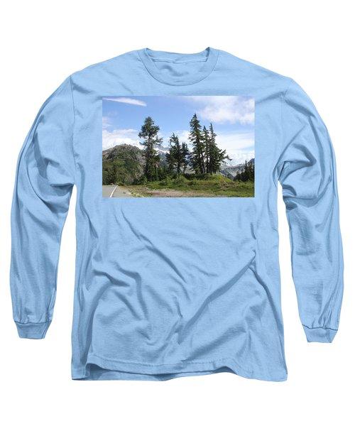Long Sleeve T-Shirt featuring the photograph Fir Trees At Mount Baker by Tom Janca
