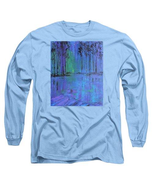 Fireflies Long Sleeve T-Shirt by Patricia Olson
