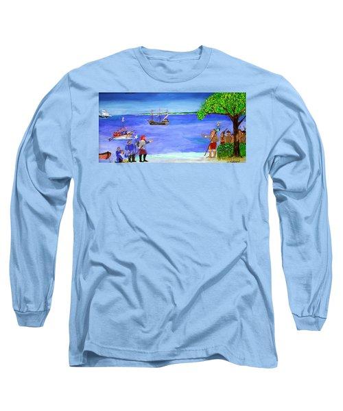 First Encounter Long Sleeve T-Shirt by Bill Hubbard