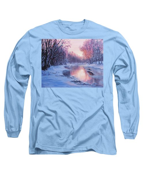 Long Sleeve T-Shirt featuring the painting First Light by Karen Ilari