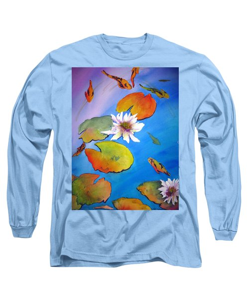 Fish Pond I Long Sleeve T-Shirt by Lil Taylor