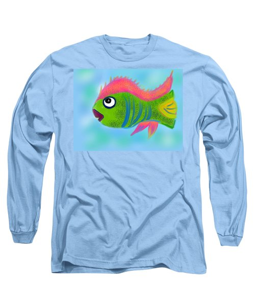 Long Sleeve T-Shirt featuring the digital art Fish Wish by Christine Fournier