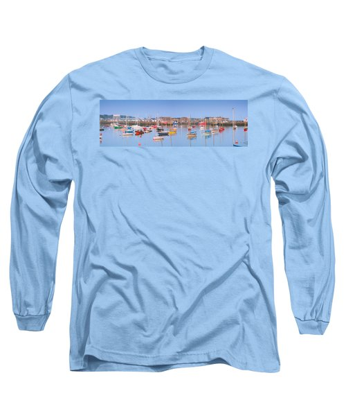 Fishing Boats In The Howth Marina Long Sleeve T-Shirt by Semmick Photo