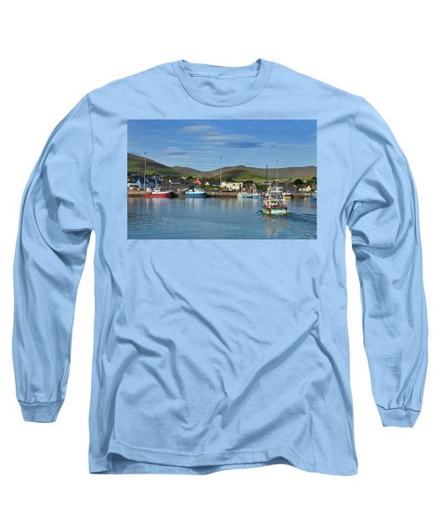 Fishing Harbour In Dingle Town, Dingle Long Sleeve T-Shirt