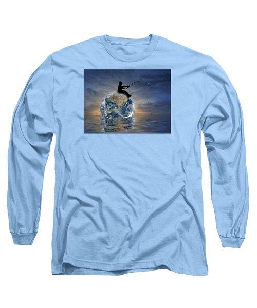 Fishing Is My World Long Sleeve T-Shirt