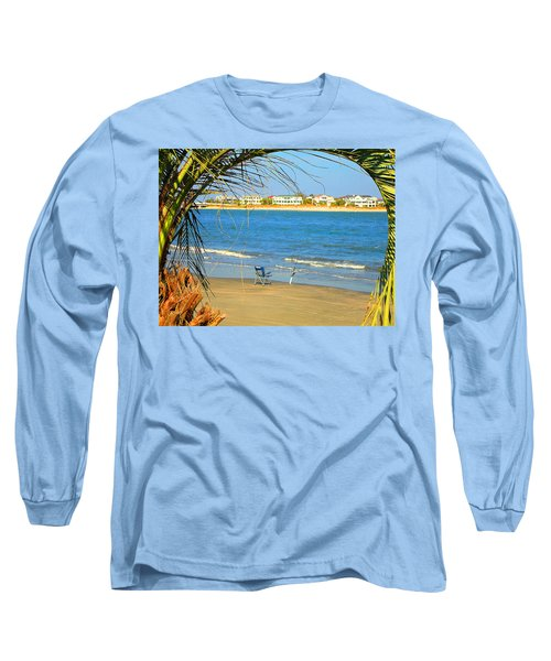 Fishing Paradise At The Beach By Jan Marvin Studios Long Sleeve T-Shirt
