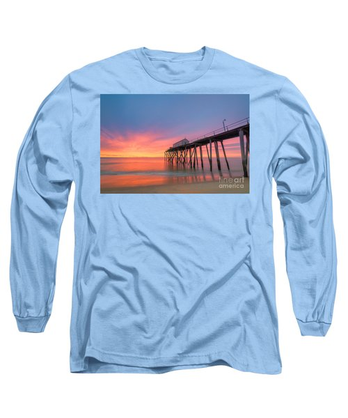 Fishing Pier Sunrise Long Sleeve T-Shirt