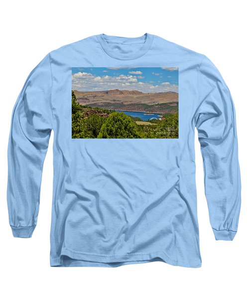 Long Sleeve T-Shirt featuring the photograph Flaming Gorge by Janice Rae Pariza