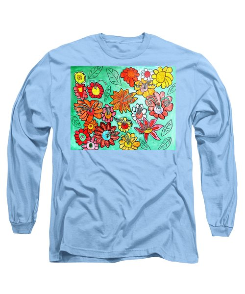 Flower Power Long Sleeve T-Shirt by Artists With Autism Inc