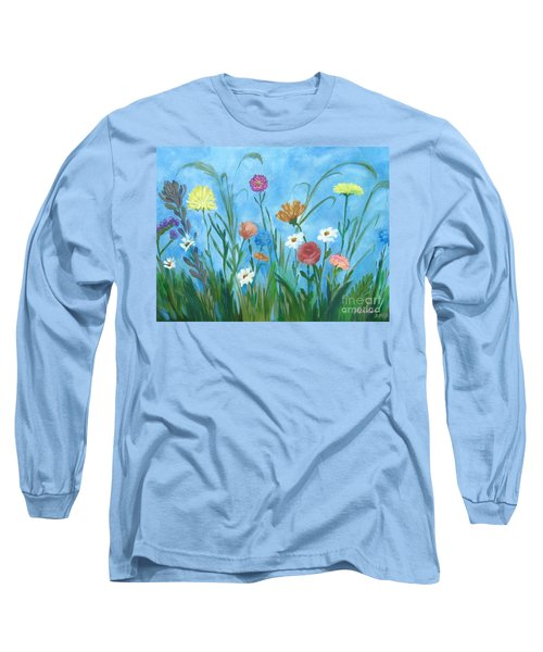 Flowers All Around Long Sleeve T-Shirt