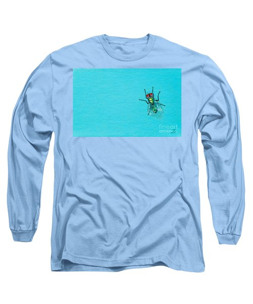Fly On The Wall Long Sleeve T-Shirt by Stefanie Forck