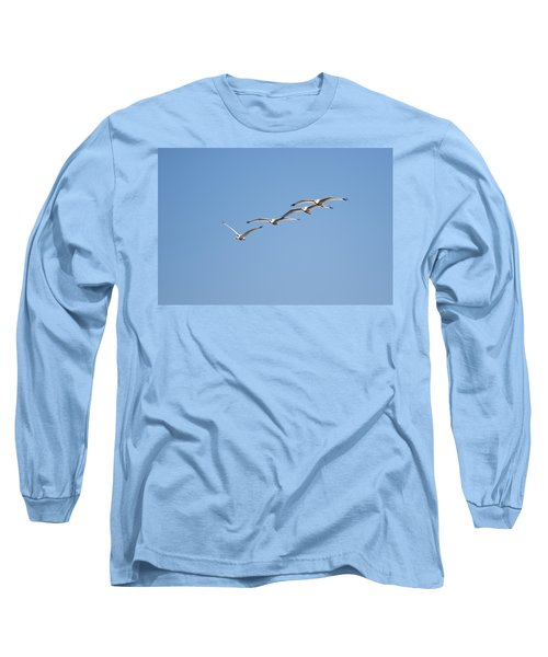 Long Sleeve T-Shirt featuring the photograph Flying Formation by John M Bailey