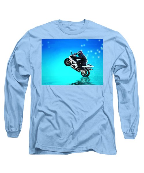 Long Sleeve T-Shirt featuring the photograph Flying Low One More Time On Two Wheels by Joyce Dickens