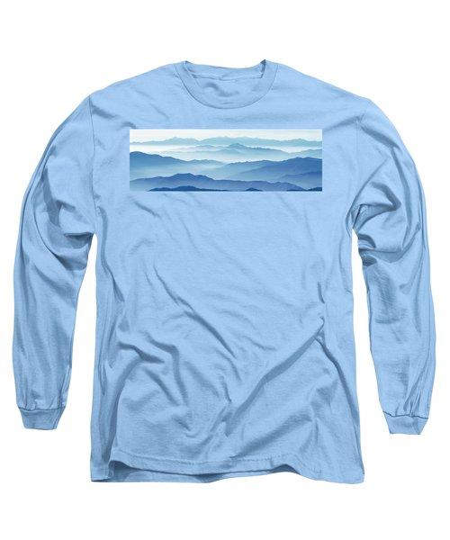 Fog Mountains Nagano Japan Long Sleeve T-Shirt