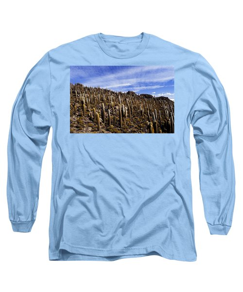 Forest Of Cacti Long Sleeve T-Shirt by Lana Enderle