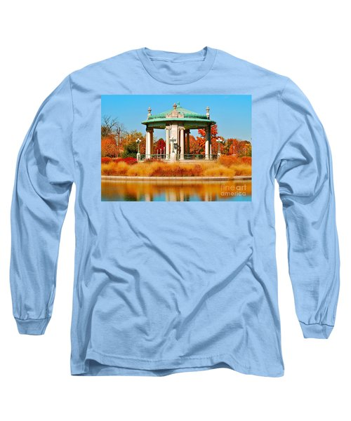 Long Sleeve T-Shirt featuring the photograph Forest Park Gazebo by Peggy Franz