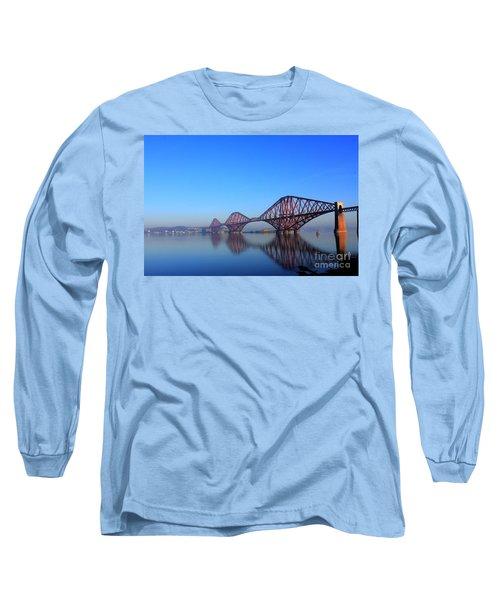 Forth Rail Bridge Long Sleeve T-Shirt by David Grant