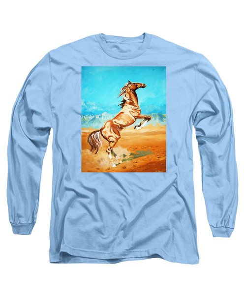 Long Sleeve T-Shirt featuring the painting Free Spirit by Al Brown