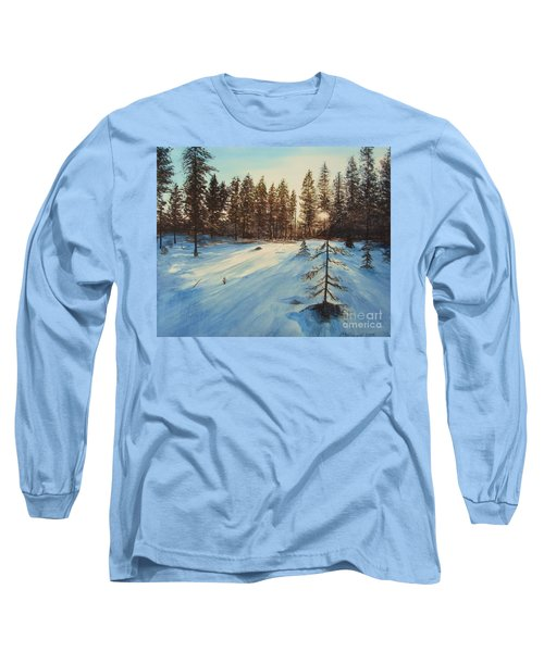 Freezing Forest Long Sleeve T-Shirt by Martin Howard