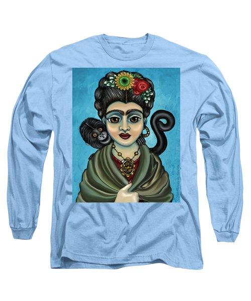 Frida's Monkey Long Sleeve T-Shirt