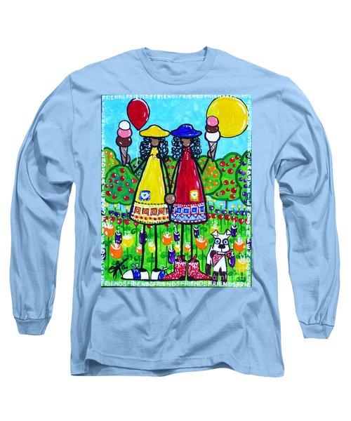 Friends Long Sleeve T-Shirt by Jackie Carpenter