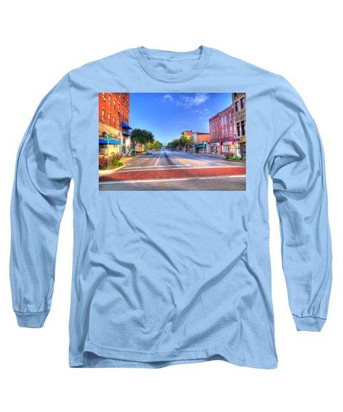 Long Sleeve T-Shirt featuring the photograph Front Street Marietta by Jonny D