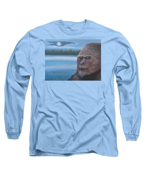 Full Moon At Boggy Creek Long Sleeve T-Shirt by Stuart Swartz
