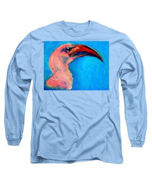 Funky Red-billed Hornbill Art Print Long Sleeve T-Shirt