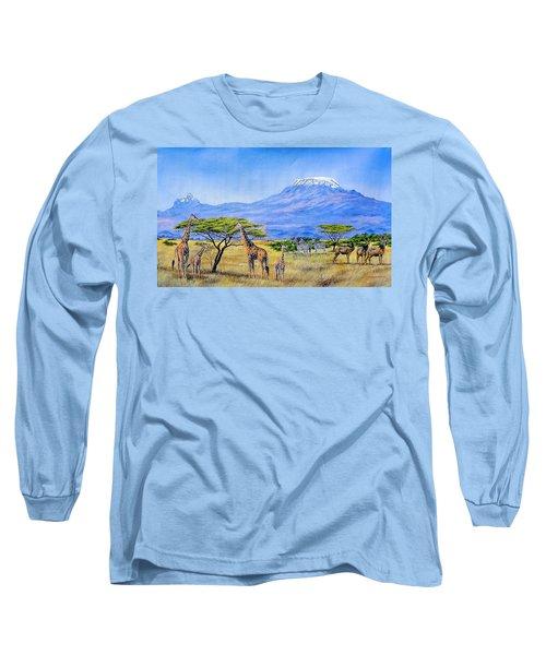 Gathering At Mount Kilimanjaro Long Sleeve T-Shirt