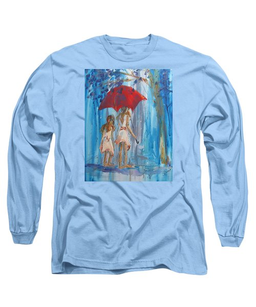 Give Me Shelter Long Sleeve T-Shirt by Terri Einer