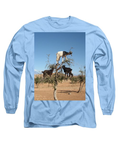 Goats In A Tree Long Sleeve T-Shirt