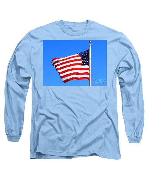 Long Sleeve T-Shirt featuring the photograph God Bless America by Judy Palkimas
