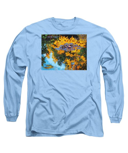 Gold Reflections Long Sleeve T-Shirt by John Lautermilch