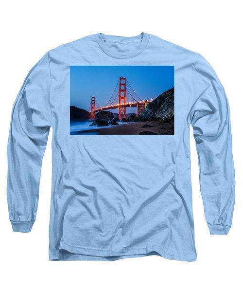 Golden Gate At Twilight Long Sleeve T-Shirt